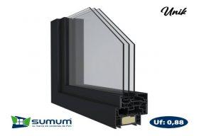 Detalle de acristalamiento triple de PVC, Sumum (Arcolinea, s.l.)