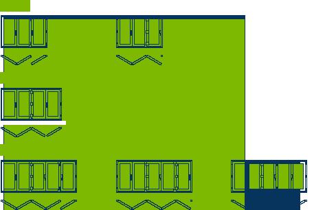 Esquema primero de ventanas y puertas plegables de PVC Sumum (Arcolinea, s.l.)