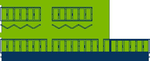 Esquema segundo de ventanas y puertas plegables de PVC Sumum (Arcolinea, s.l.)