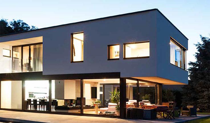 Vivienda con puertas y ventanas correderas de PVC, Sumum (Arcolinea, s.l.)