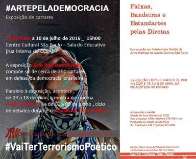 """Exposição """"Arte pela Democracia"""" no Centro Cultural São Paulo"""