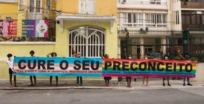 "Faixa LGBTQIA+ ""Cure o seu preconceito"""