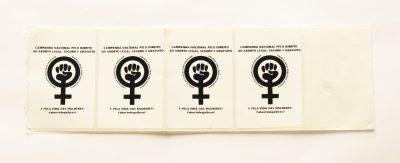 Adesivo pela Legalização do Aborto no Brasil