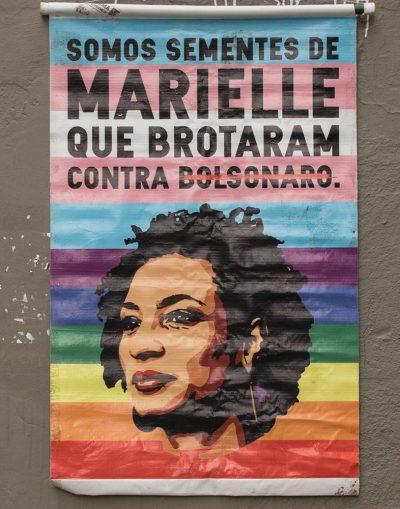 Pôster arco-íris Marielle