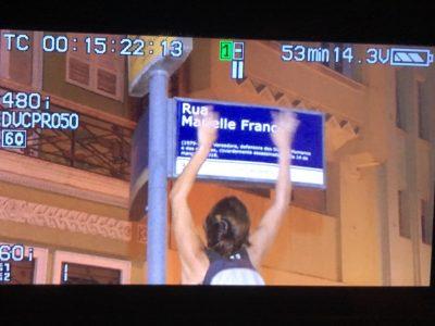 Duas primeiras placas Rua Marielle Franco