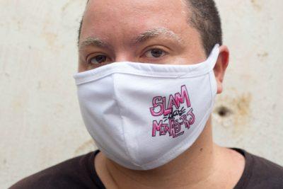 """Máscara """"Slam das Minas RJ"""""""