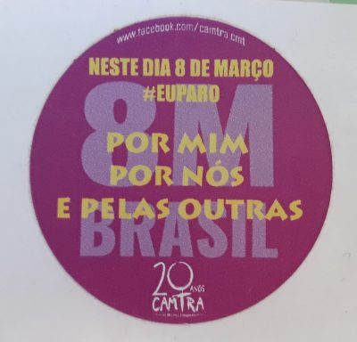 Adesivo 8M #EuParo CAMTRA