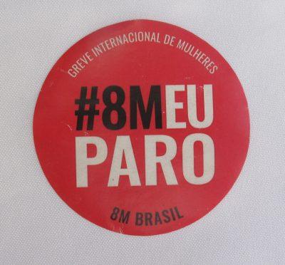#8M EU PARO vermelho