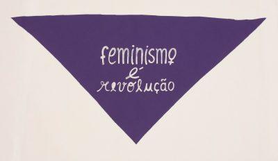 """Lenço roxo """"Feminismo é revolução"""""""