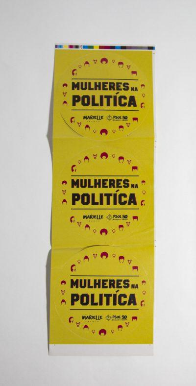 "Adesivo ""Mulheres na Política"""