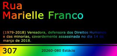 Placa Rua Marielle Franco, versão LGBTQIA+