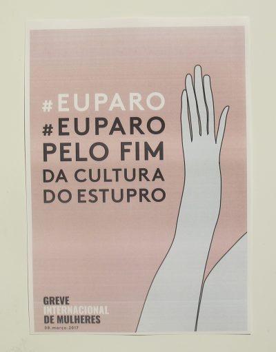 Eu paro pelo fim da cultura do estupro