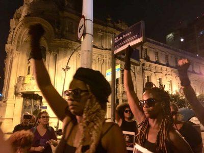 Terceira placa Rua Marielle Franco: Panteras Negras