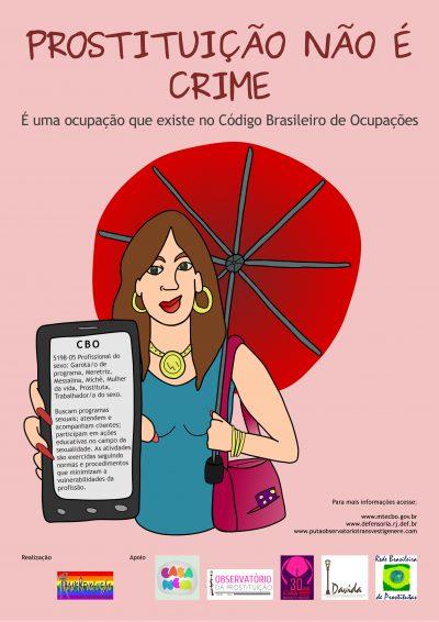 """Panfletos """"Prostituição não é crime"""""""
