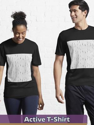 Text Illustration - Active T-Shirt