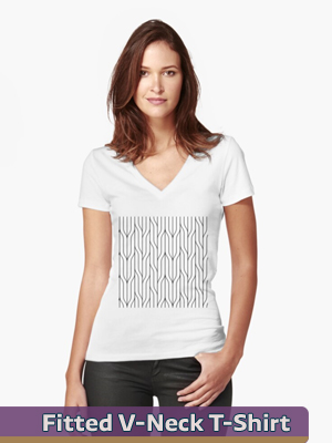 Graphic Art - Fitted V-Neck T-Shirt