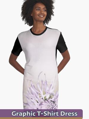 T-Shirt Dress - Flower Mystical