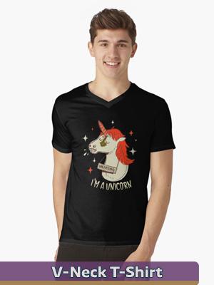 Text Illustration - V-Neck T-Shirt