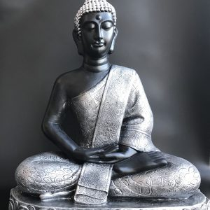 Buddha silver H 70 cm, sitting, light model