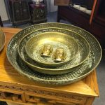 Metal tray brass 38 cm