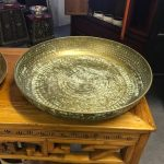 Metal tray brass 47 cm