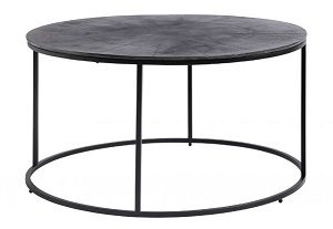 Coffee table, round, oxidized