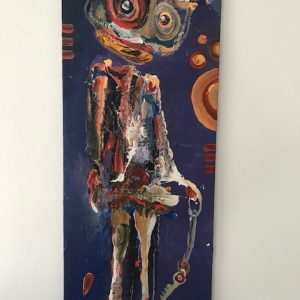 Kjeld Appel komposition 120 x 50 cm.