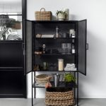 WIRE cabinet, black metal