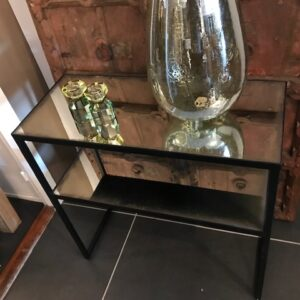 Glass/metal Console Table