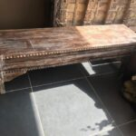 Indian wood bench