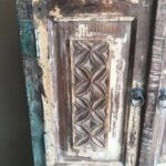 Indian reclaimed wood cabinet