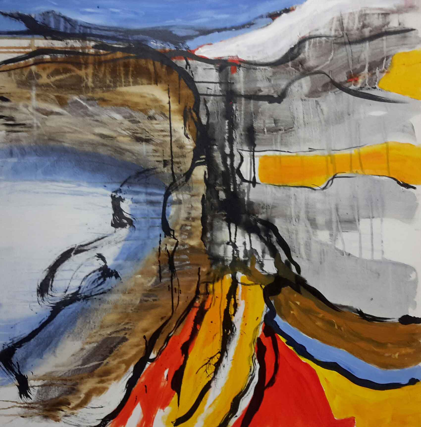 Hanne Hermann / Mobil: +45 22562249 / 100x100 cm / Nr. 199