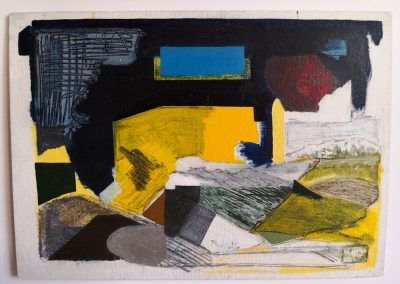1 Danish landscapes. painted on plate with oil,oil pastel and pencil.