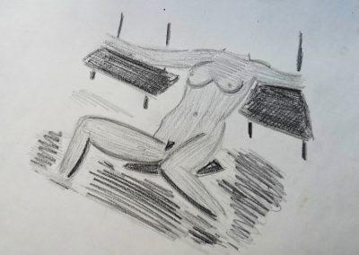 Female posing naked