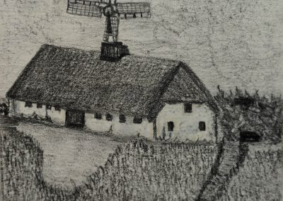 Mill with Cane in Jutland