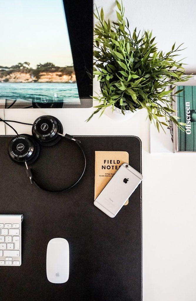 desktop, aerial view, business