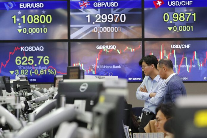 Asian stocks follow Wall Street lower on trade worries