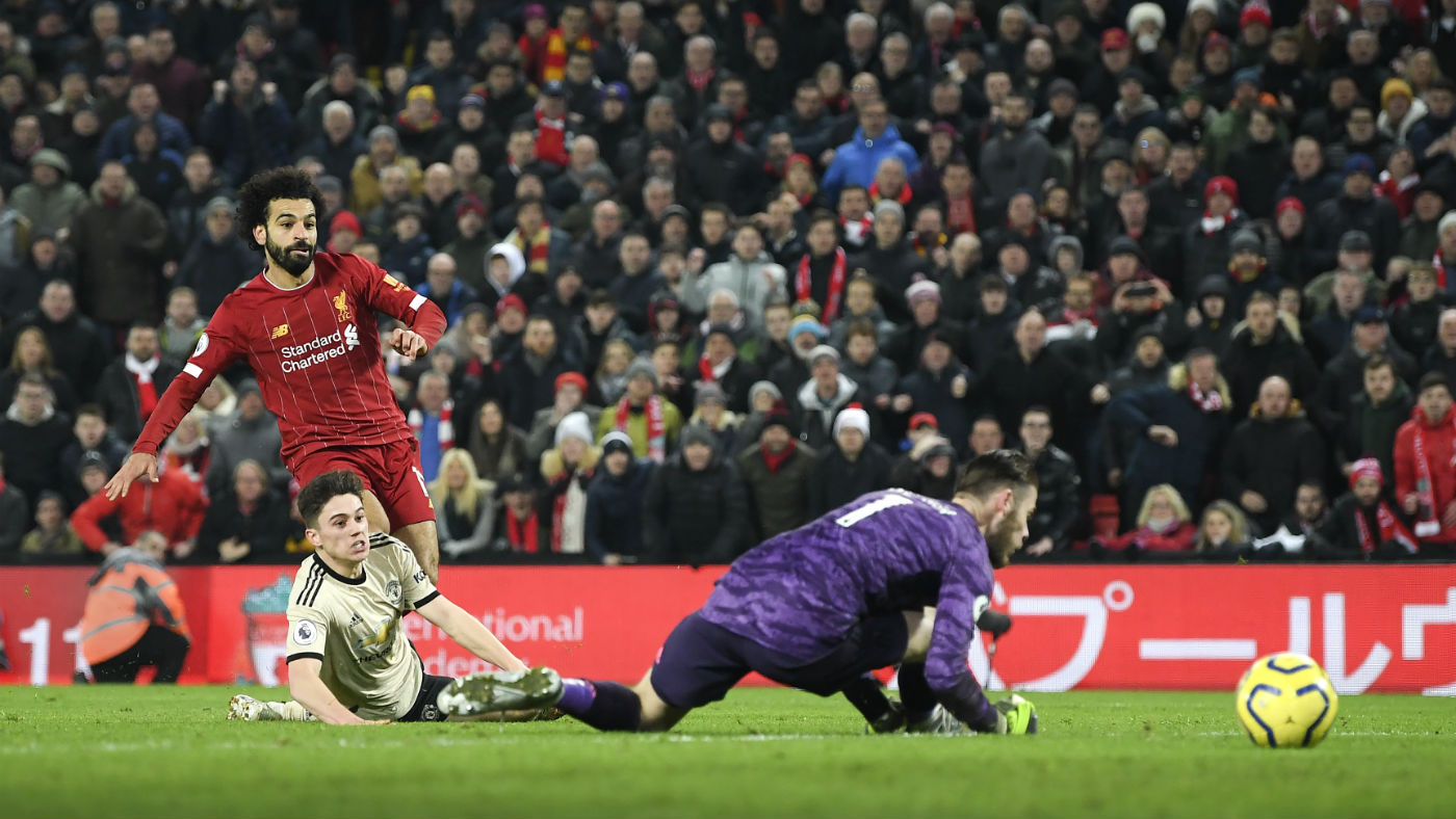 Mohamed Salah scored Liverpool's second goal against Manchester United