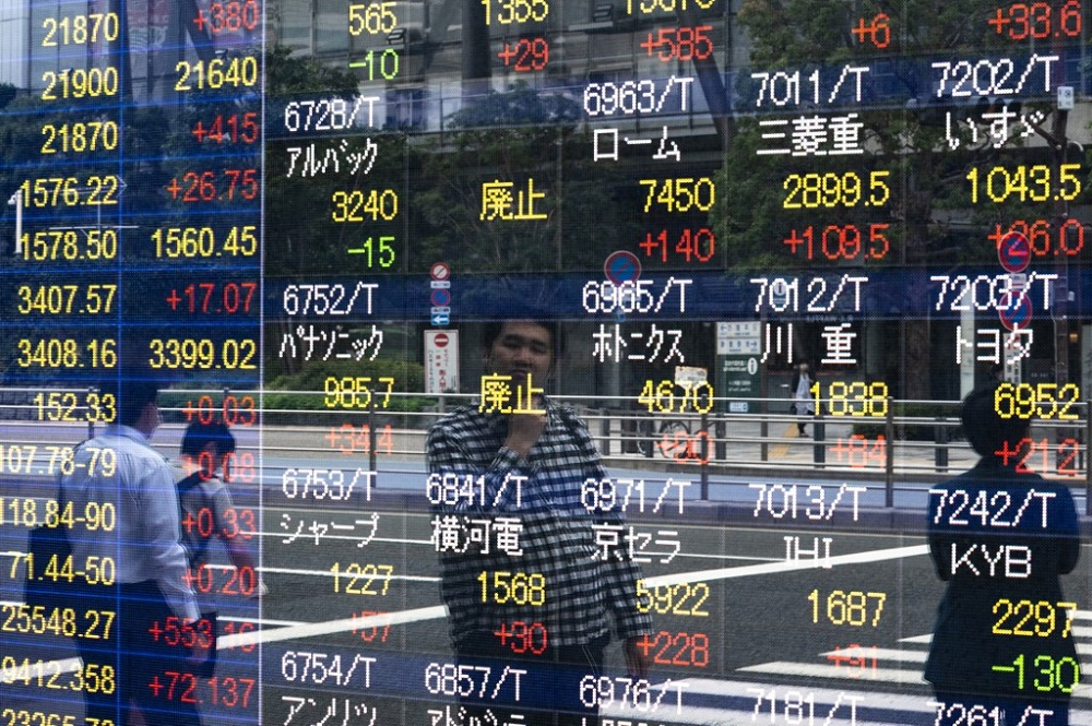 Japan's Nikkei rose 1.17 per cent to its highest since late February and markets in Seoul, Taipei and Hong Kong also gained. — AFP pic