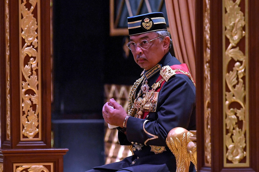 Yang di-Pertuan Agong Al-Sultan Abdullah Ri'ayatuddin Al-Mustafa Billah Shah decreed that the allocations for the publication of congratulatory messages should be channelled to the Covid-19 fund set up by the government to help the people affected by the pandemic.  — Bernama pic