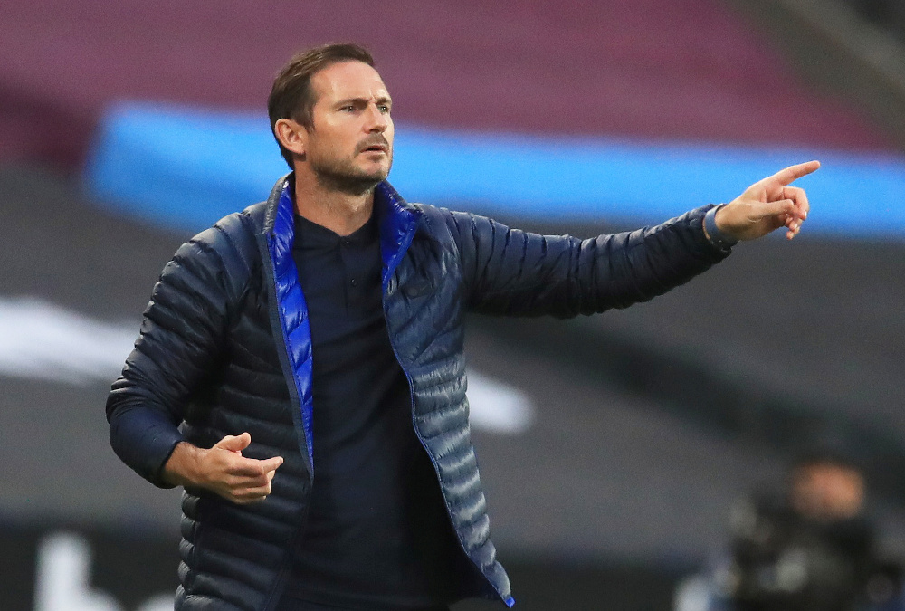 Chelsea manager Frank Lampard reacts, as play resumes behind closed doors following the outbreak of the coronavirus disease during the match against West Ham United at the London Stadium July 1, 2020. — Reuters pic
