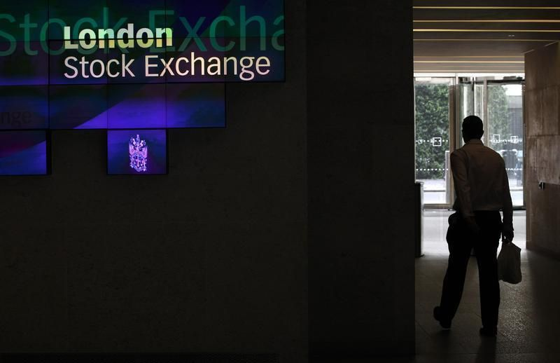The FTSE 100 index rose 0.2 per cent, gaining for a fourth straight day, with Sainsbury surging to the top. — Reuters pic