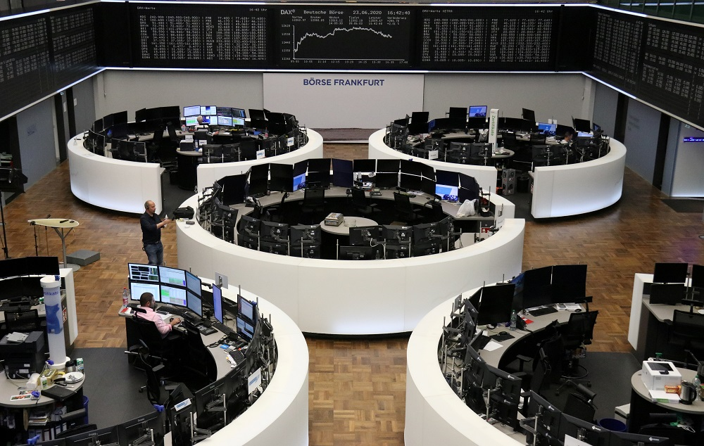 In the eurozone, Frankfurt's DAX 30 also dropped 0.9 per cent to 13,091.86 points and the Paris CAC 40 lost 0.6 per cent to 5,411.66. ― Reuters pic