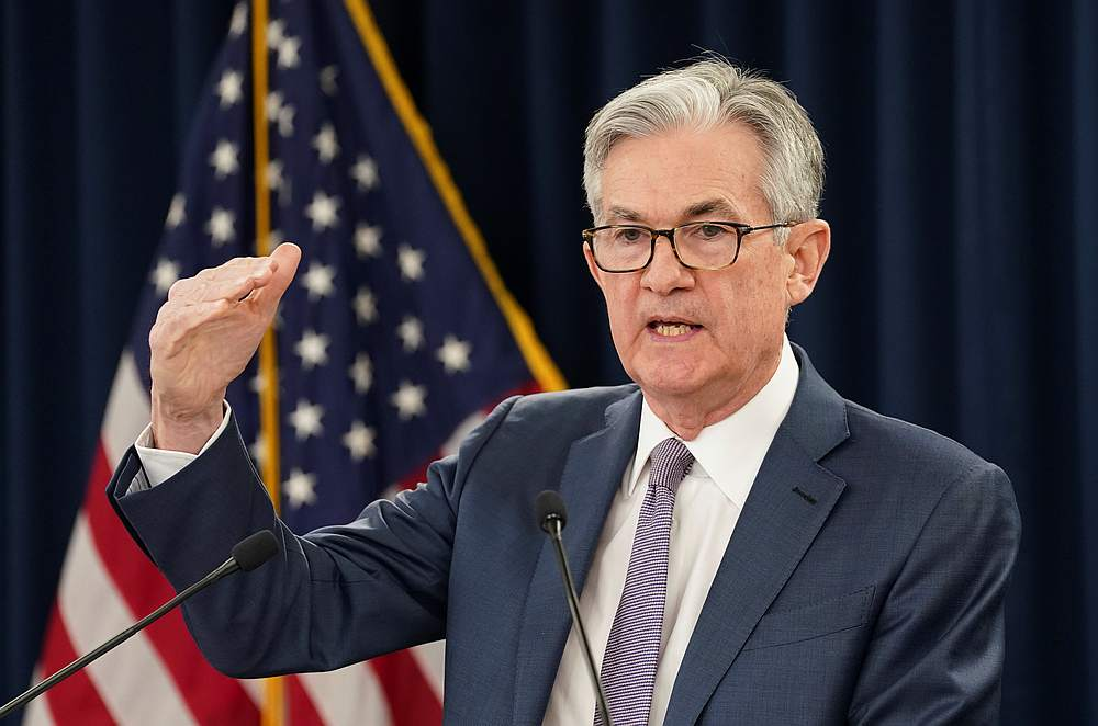 US Federal Reserve Chairman Jerome Powell speaks to reporters during a news conference in Washington,  March 3, 2020. — Reuters pic