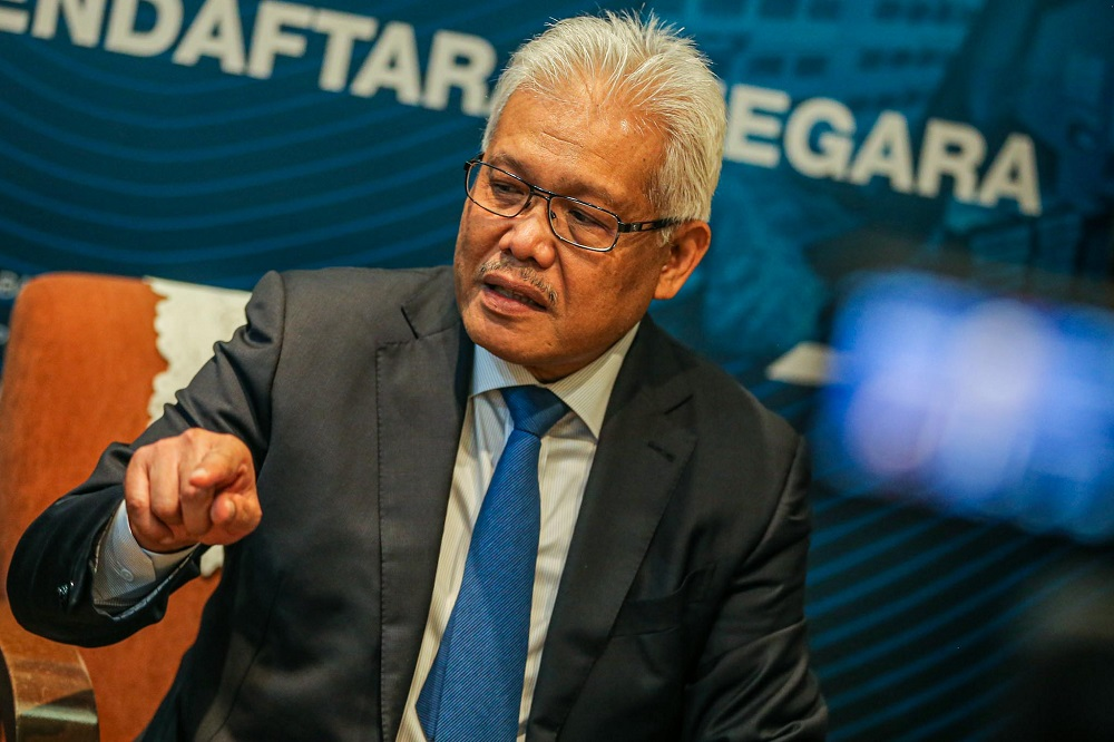 Datuk Seri Hamzah Zainudin said the Perikatan Nasional's registration had been approved by the Registrar of Societies on August 7 under the Societies Act 1966. — Picture by Hari Anggara