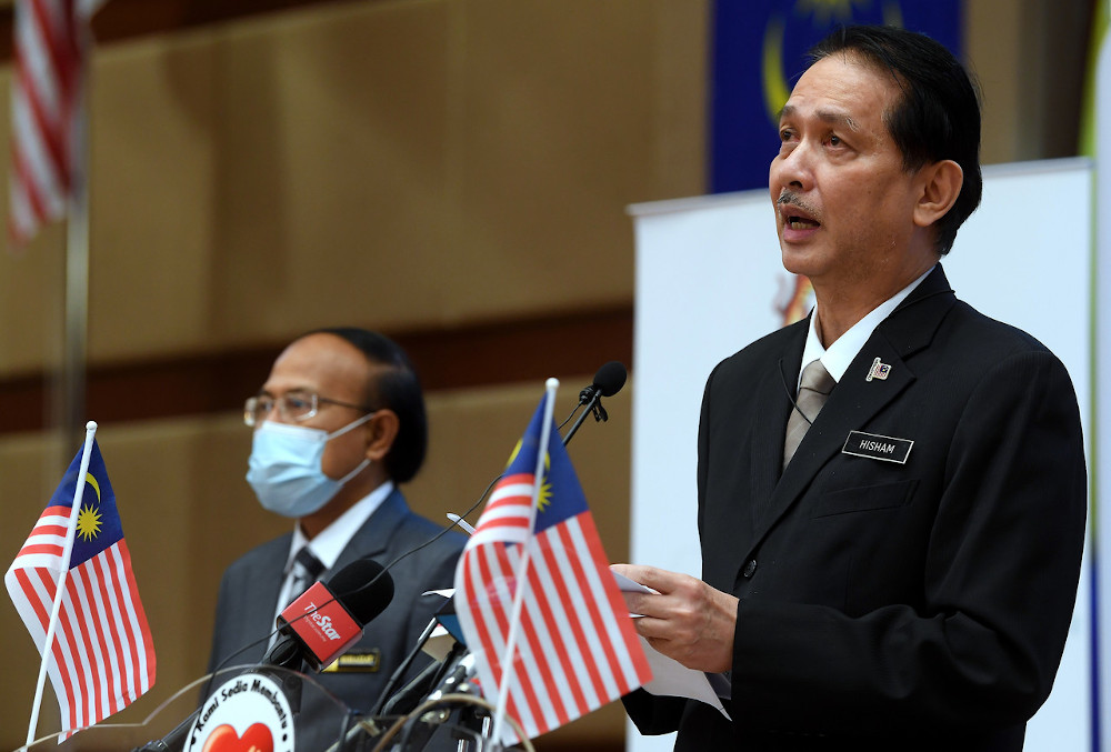Health director-general Tan Sri Dr Noor Hisham Abdullah during a press conference regarding the number of people infected with Covid-19 at the Health Ministry in Putrajaya, September 10, 2020. — Bernama pic
