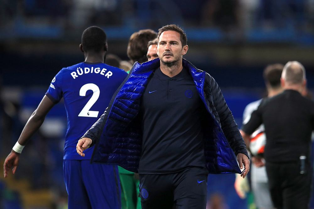 Chelsea manager Frank Lampard after the EPL match with Norwich City at Stamford Bridge, London, Britain July 14, 2020. — Pool pic via Reuters