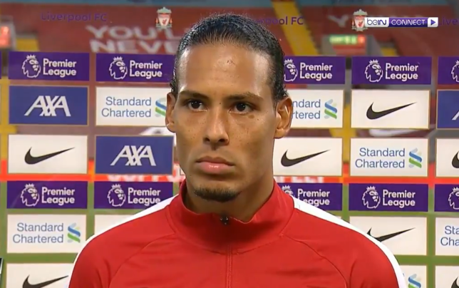Virgil van Dijk made a rare mistake during Liverpool's victory over Leeds United