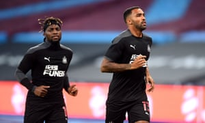 Newcastle United's Allan Saint-Maximin and Callum Wilson