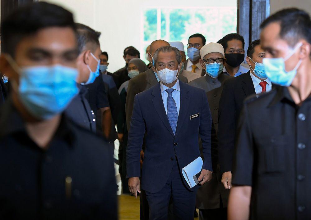 Prime Minister Tan Sri Muhyiddin Yassin attends a Perikatan Nasional event at Universiti Malaya, Kuala Lumpur September 1, 2020. ― Bernama pic
